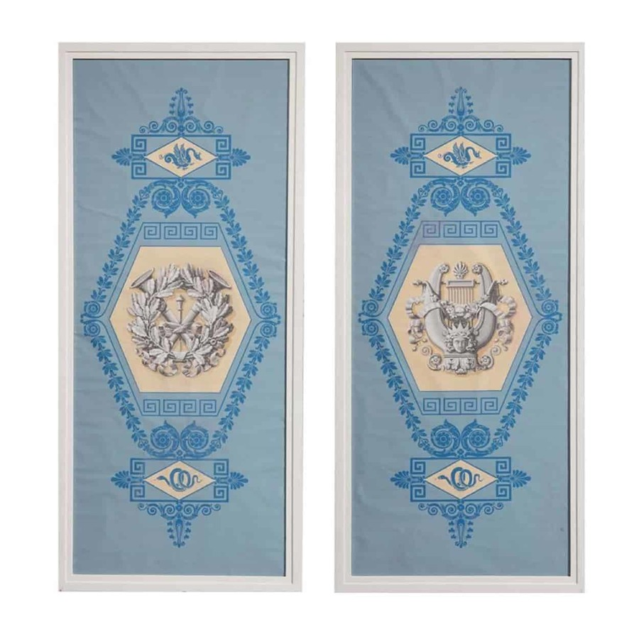 A Pair Of Charles X Papier Peint Panels