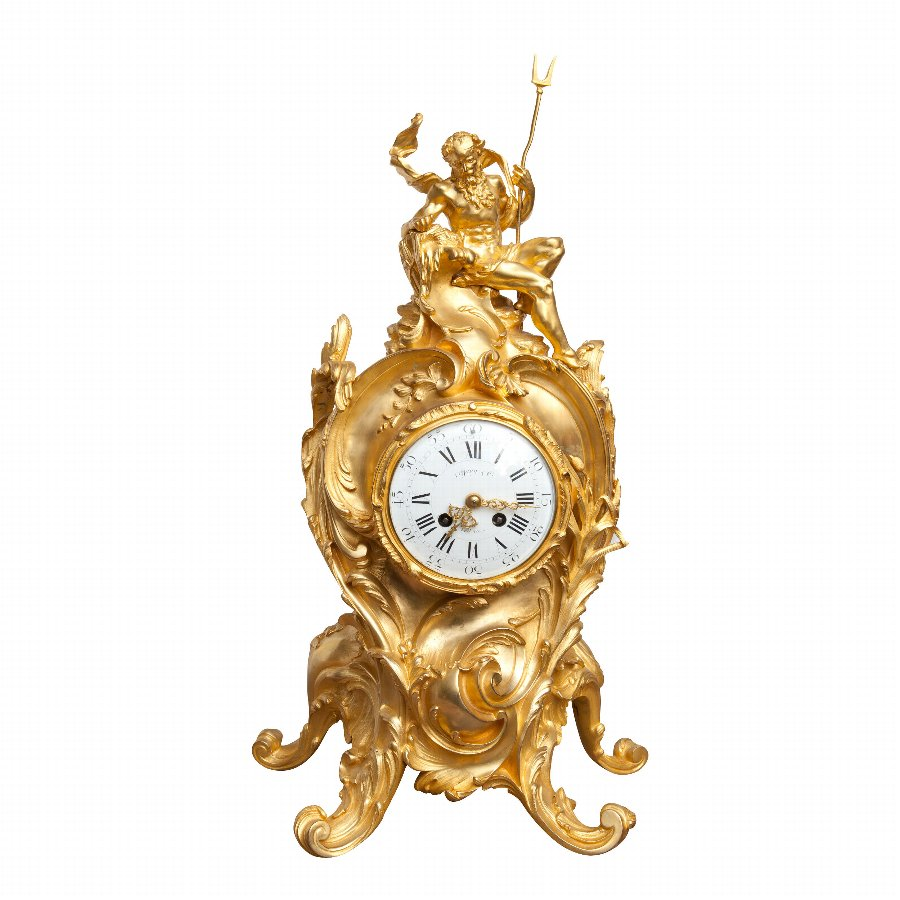 Tiffany & Co. Fine Ormolu Mantel Clock