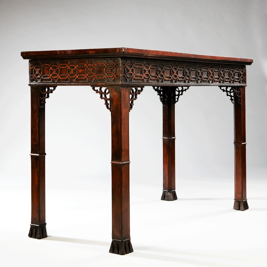 18th Century Chinoiserie Fretwork Chippendale Centre Table