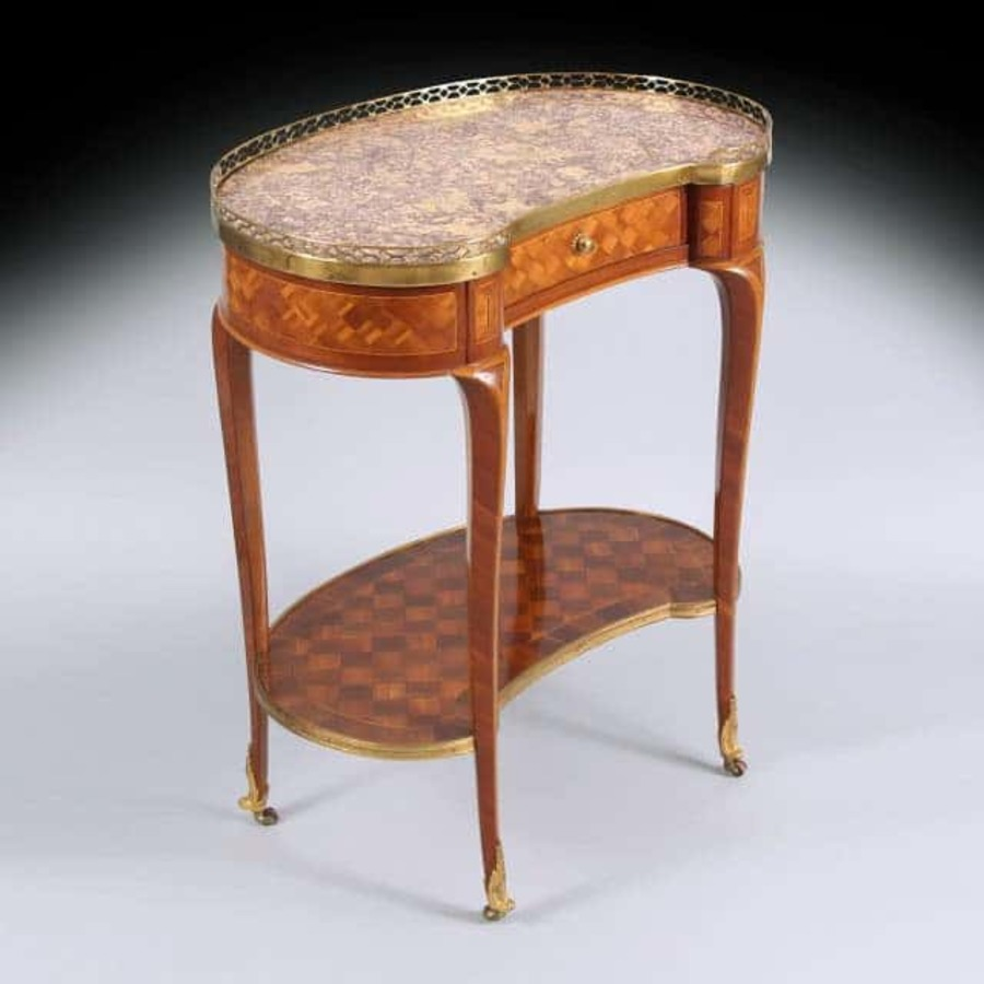 18th Century Louis XVI Brocatelle De Jura Kidney Table