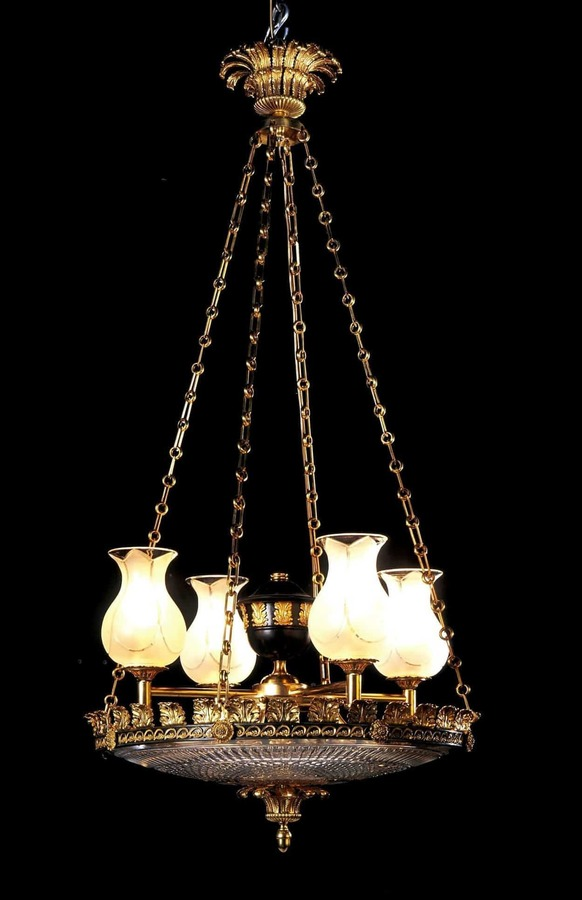 Regency Gilt and Bronze Dishlight