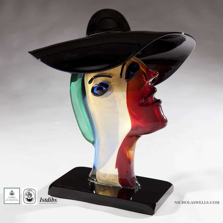 Murano Art Glass Bust After Picasso