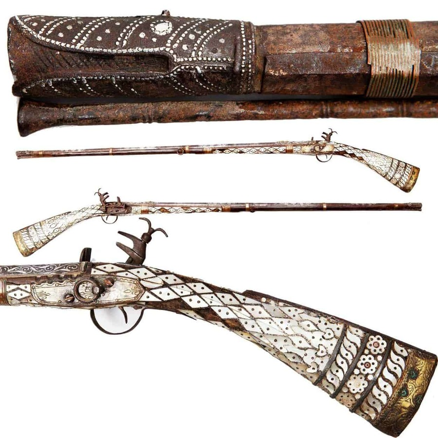 Ottoman Empire Mother of Pearl Miquelet Gun