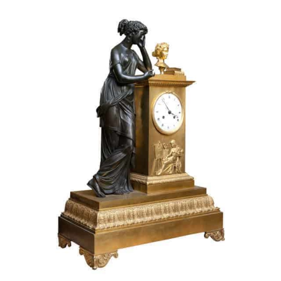 Empire Ormolu And Bronze Mantel Clock