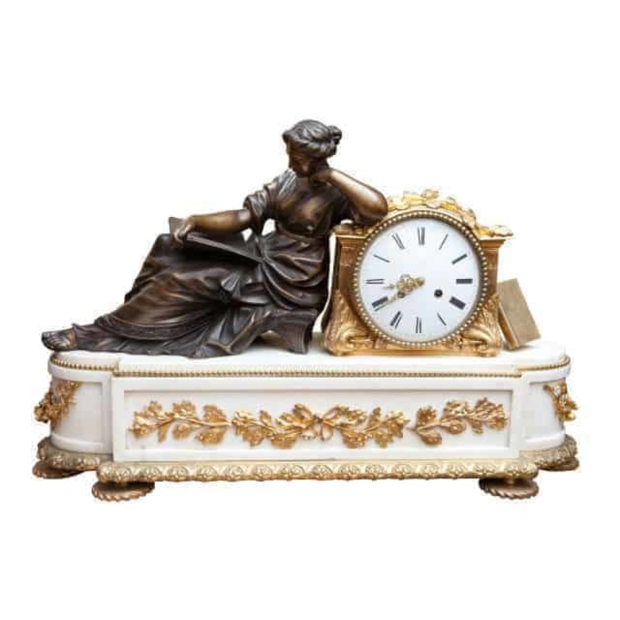 A Fine French Neo Classical Mantel Clock
