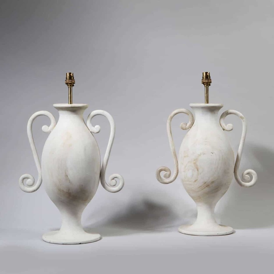 A Pair of Classical Vases as Lamps