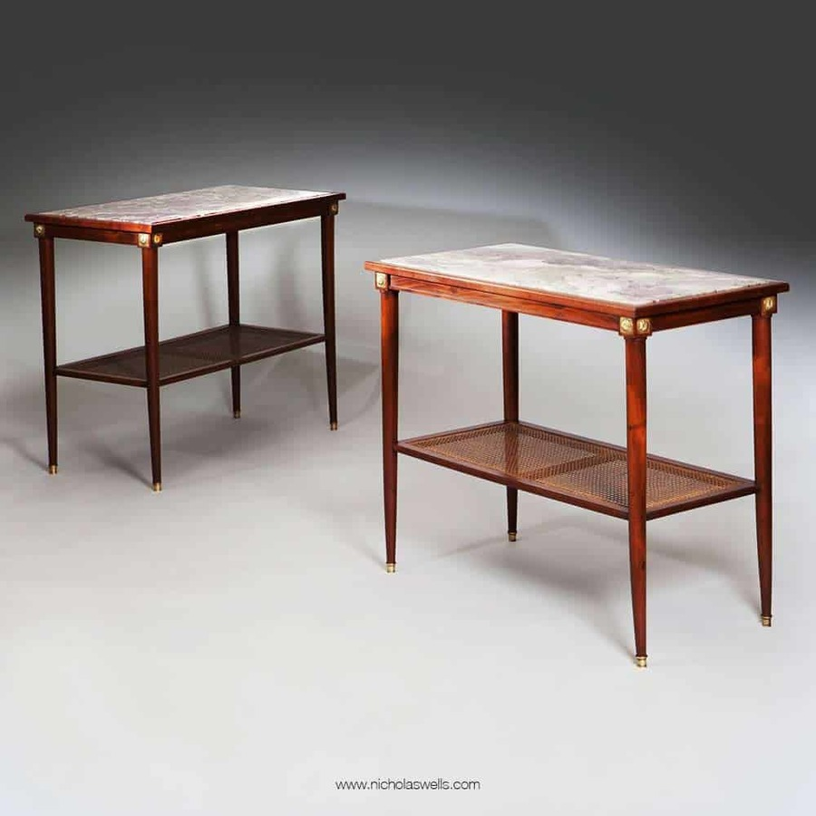 A Pair Of French Mahogany Side Tables