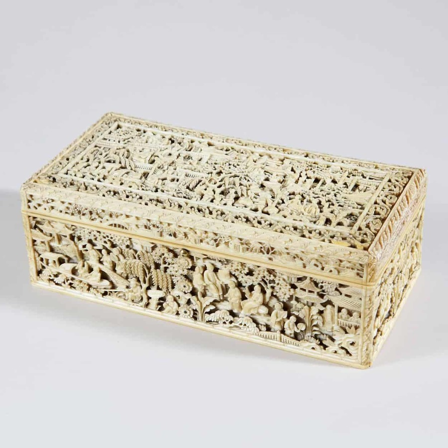 Ivory Chinese Carved Box