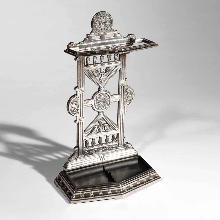 Victorian Polished Cast Iron Hall Umbrella Stand