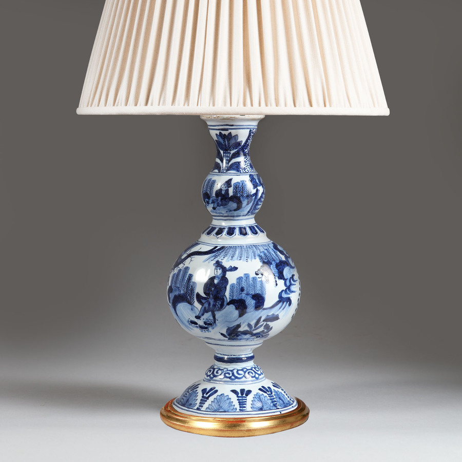 Delft Blue and White Lamp