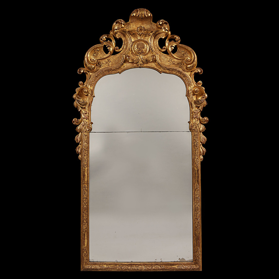 Early 18th Century Giltwood Pier Mirror