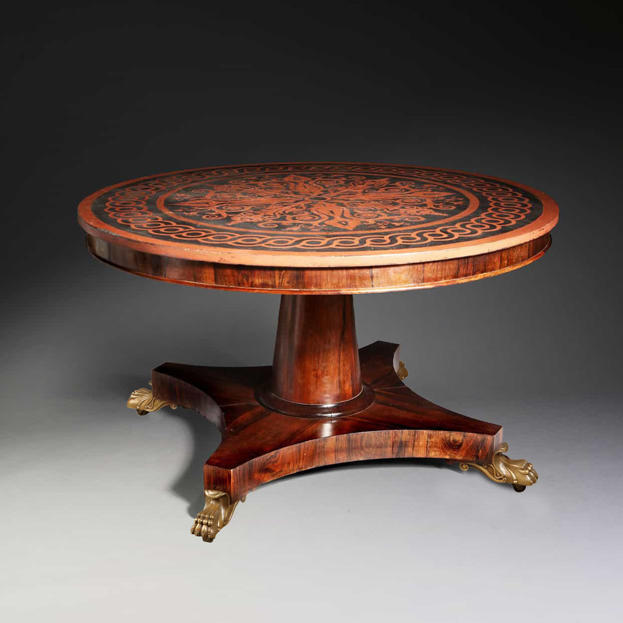 Early 19th Century Rosewood & Slate Centre Table