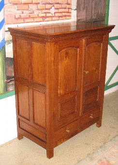 Antique 19th C COLONIAL CABINET IN TEAK