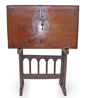 "Antique 17th CENTURY  ""Bargueno"" TRAVELING CABINET"