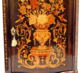 Antique NAPOLEON III PERIOD  CORNER CUPBOARD
