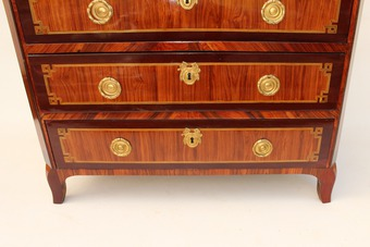 Antique 18th CENTURY SECRETAIRE CHEST signed  POPSEL