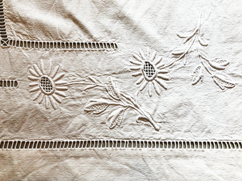 Antique EMBROIDERED SHEET