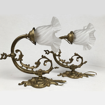 Antique PAIR OF LOUIS XV STYLE WALL LIGHTS