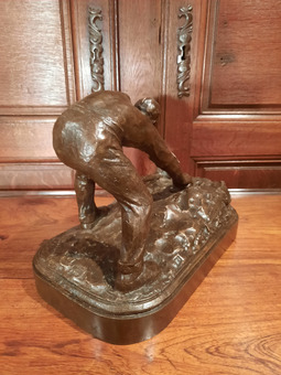 Antique BRONZE signed H. BOUCHARD