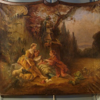 Antique 19th CENTURY OIL ON CANVAS