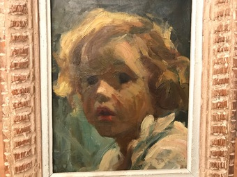 Antique OIL ON CANVAS signed SANTINI