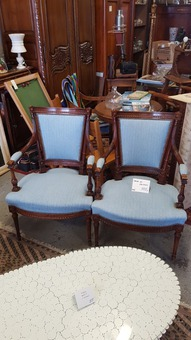 Antique PAIR OF LOUIS XVI STYLE ARMCHAIRS
