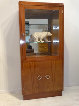 Antique ART DECO PERIOD DISPLAY CABINET