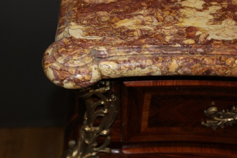 Antique Louis XV Style Tomb Commode In Marquetry