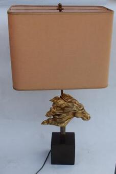 Antique 1970 ' Gilt Bronze Horse Head Decor Lamp, DLG Duval Brasseur Unsigned