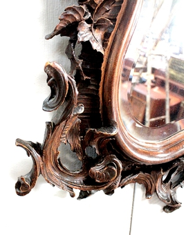 Antique LOUIS XV ROCAILLE STYLE MIRROR