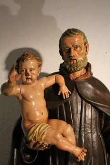 Antique STATUE OF SAINT JOSEPH AND THE INFANT JESUS