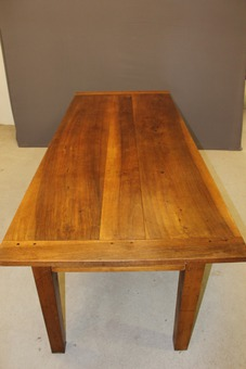 Antique XIX Farm Table In Walnut