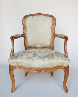 Antique PAIR OF LOUIS XV PERIOD ARMCHAIRS