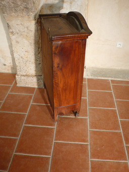Antique PROVENCAL GLASS CABINET