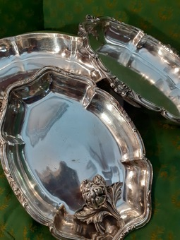 Antique ENGLISH SILVER PLATE DISH