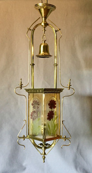 Antique ART NOUVEAU HALL CHANDELIER