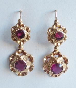 Antique LOUIS PHILIPPE PERIOD EARRINGS