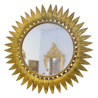 Antique 50s Sun Mirror