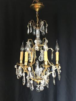 Antique TASSEL CAGE CHANDELIER