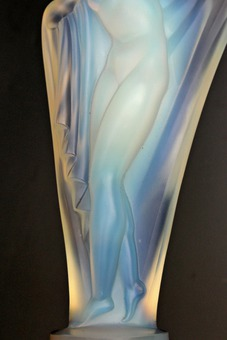 Antique ART DECO PERIOD GLASS SCULPTURE