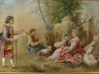 Antique 19th CENTURY FRENCH OIL ON CANVAS