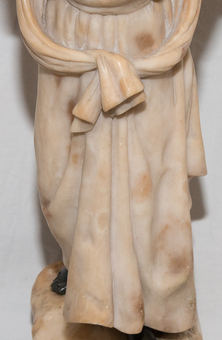 Antique ALABASTER  AND BRONZE STATUETTE