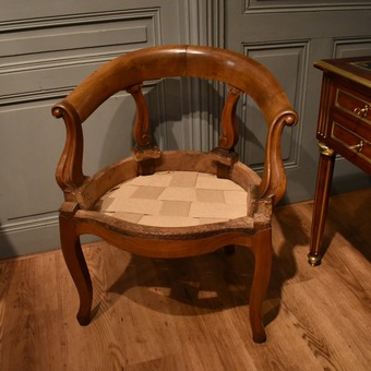 Antique LOUIS PHILIPPE STYLE DESK CHAIR