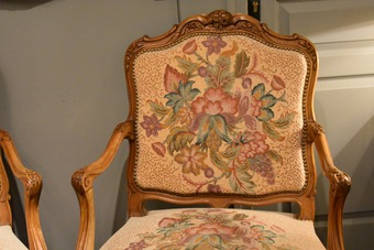 Antique PAIR OOF LOUIS XV STYLE ARMCHAIRS