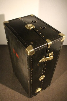 Antique LEATHER TRUNK