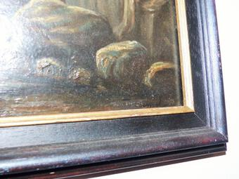 Antique Marine Nocturne Table Oil On Panel XIX E French School