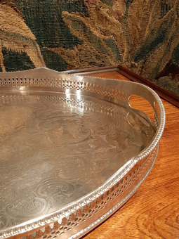 Antique SILVER PLATE TRAY