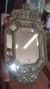Antique Large Napoleon III Mirror A Pareclose XIX
