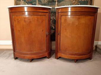 Antique PAIR OF LOUIS XVI STYLE CORNER CUPBOARDS