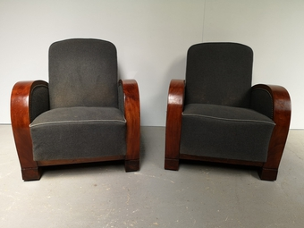Antique ART DECO PERIOD RECLINING CHAIRS